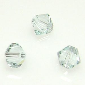 Crystal beads, Light blue, Faceted, Diameter 4mm, 25 beads, (LZZ0010)